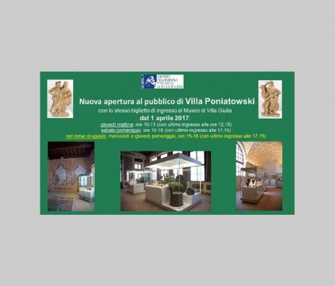 Nuova apertura di Villa Poniatowski